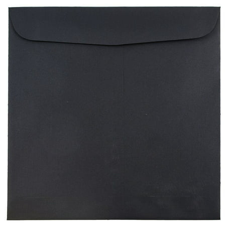 9.5 X 9.5 Square - JAM Paper 9.5 x 9.5 Square Invitation Envelope, Black Linen, 50/pack