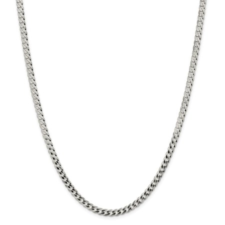 Sterling Silver 4mm Close Link Flat Curb Chain Necklace or Bracelet