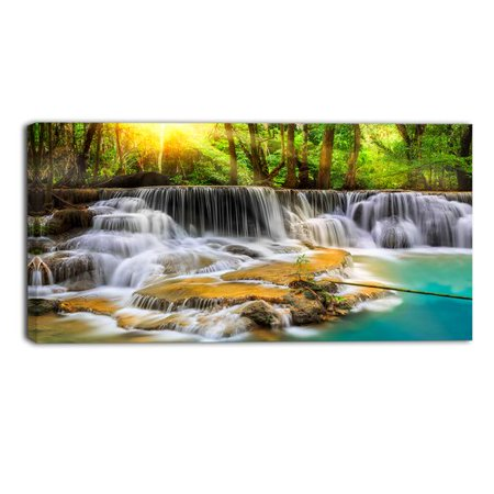 Design Art Kanchanaburi Province Waterfall Photographic Print on Wrapped Canvas