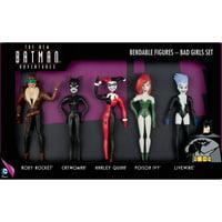 "DC Comics - The New Batman Adventures ""Bad Girls"" 5-Piece Bendable Figure Set: Roxy Rocket, Catwoman, Harley Quinn, Poison Ivy, Livewire"