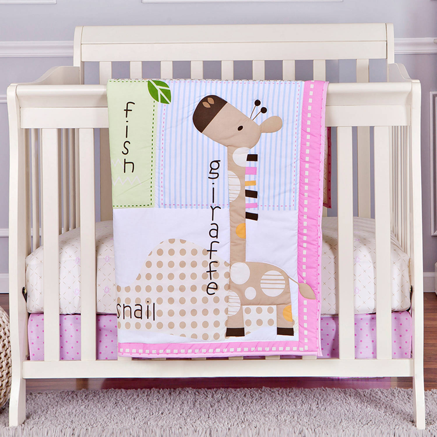 American Baby Company Heavenly Soft Minky Dot 3 Piece Mini Portable Crib Bedding Set Choose Your Color
