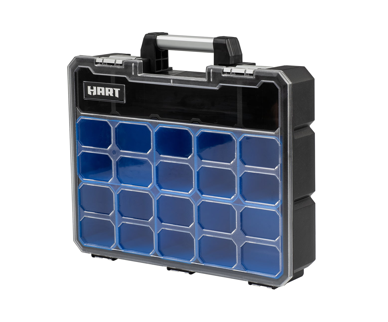 Black /& Blue 9 Deep Removable Compartments Small Parts Organizer /& Tool Box