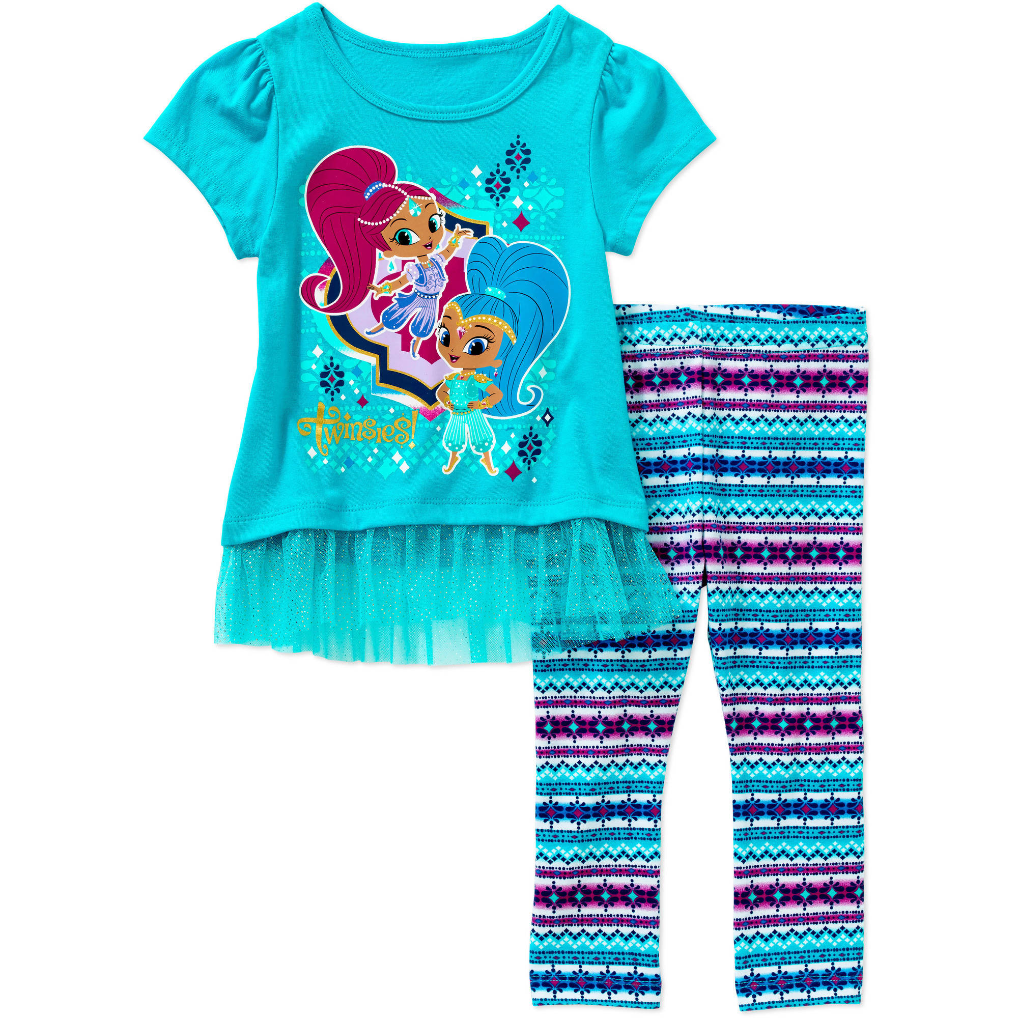 Shimmer and Shine Toddler Girl Knit Tunic and Leggings Outfit Set