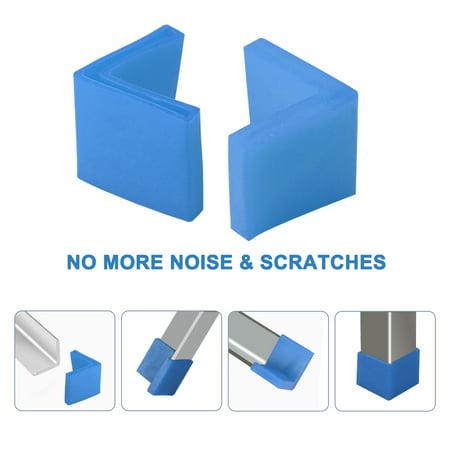 50mm x 50mm Angle Iron Foot Pad L Shaped PVC Leg Cap Floor Protector Blue 2pcs - image 1 de 7