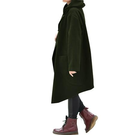 Elonglin Damen Lose Umhang Mantel Poncho /Ärmellos Herbst Winter Mode Baumwolle Jacke Freizeitm/äntel
