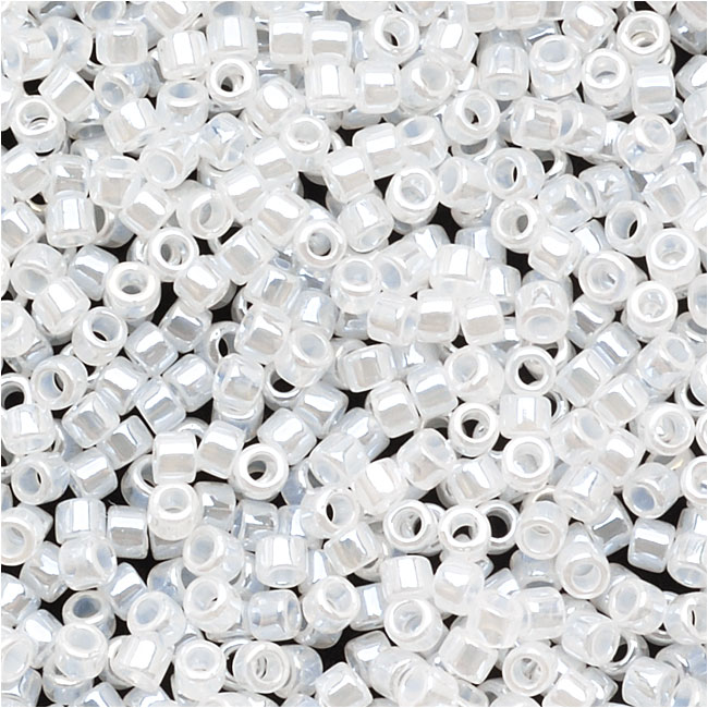 Miyuki Delica Seed Beads 15/0 Lined Crystal White DBS231 4 Grams