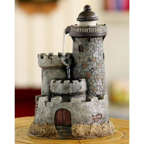 Jeco Inc. Resin/Fiberglass Lighthouse Tabletop Water Fountain