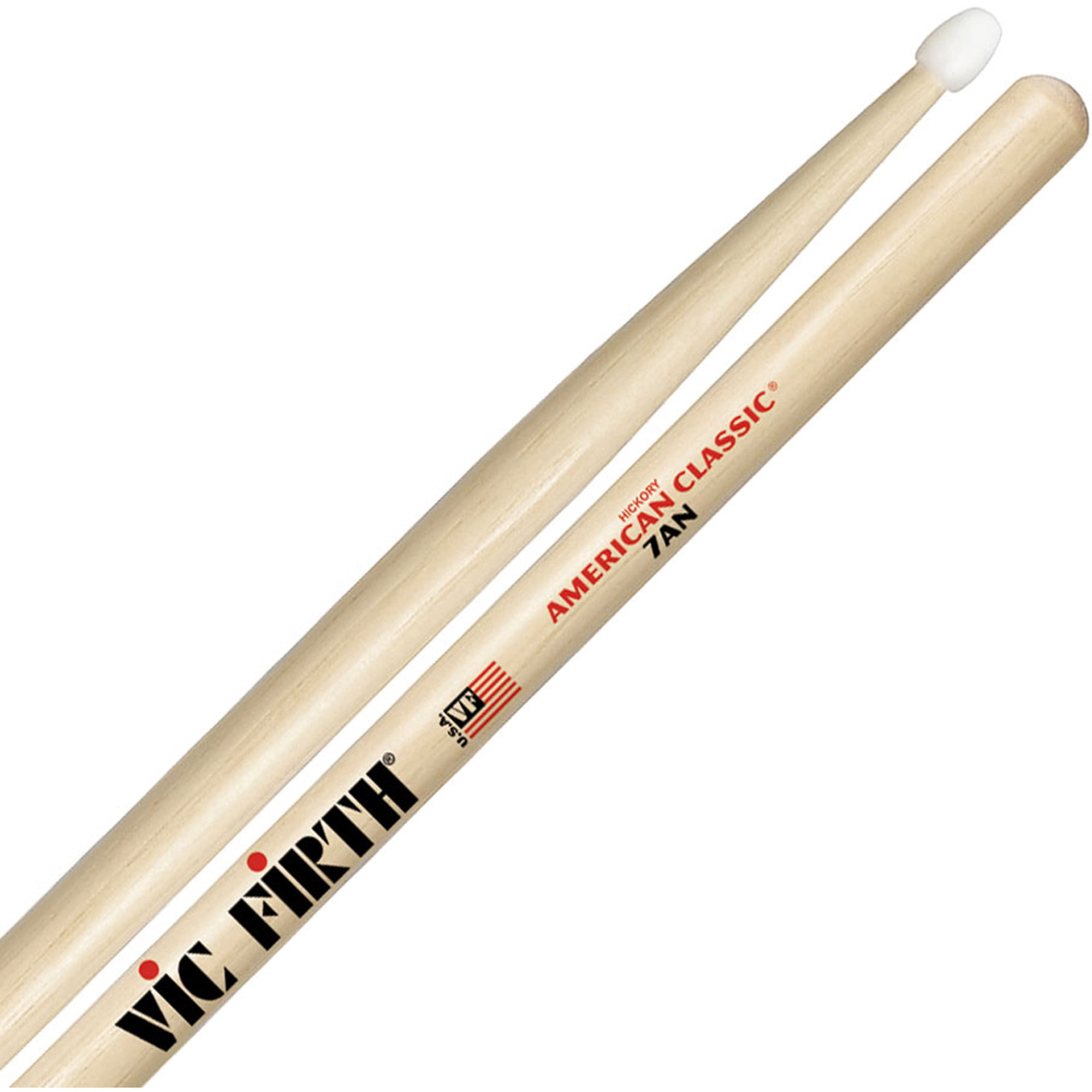 Vic Firth American Classic 7AN Nylon Tip Hickory Drumsticks by Vic Firth