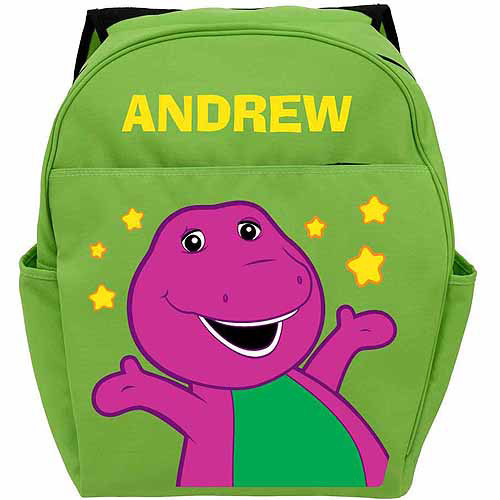 Personalized Barney Little Stars Green Backpack