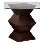 Sterling Hohner Zebrano Table Base With Striped Wood Finish