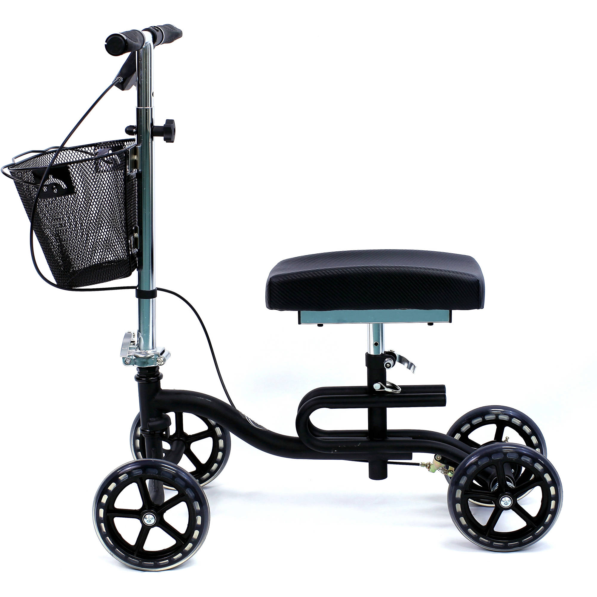 Karman KW-100 Luxury Knee Walker with Basket and Knee Pad, Black