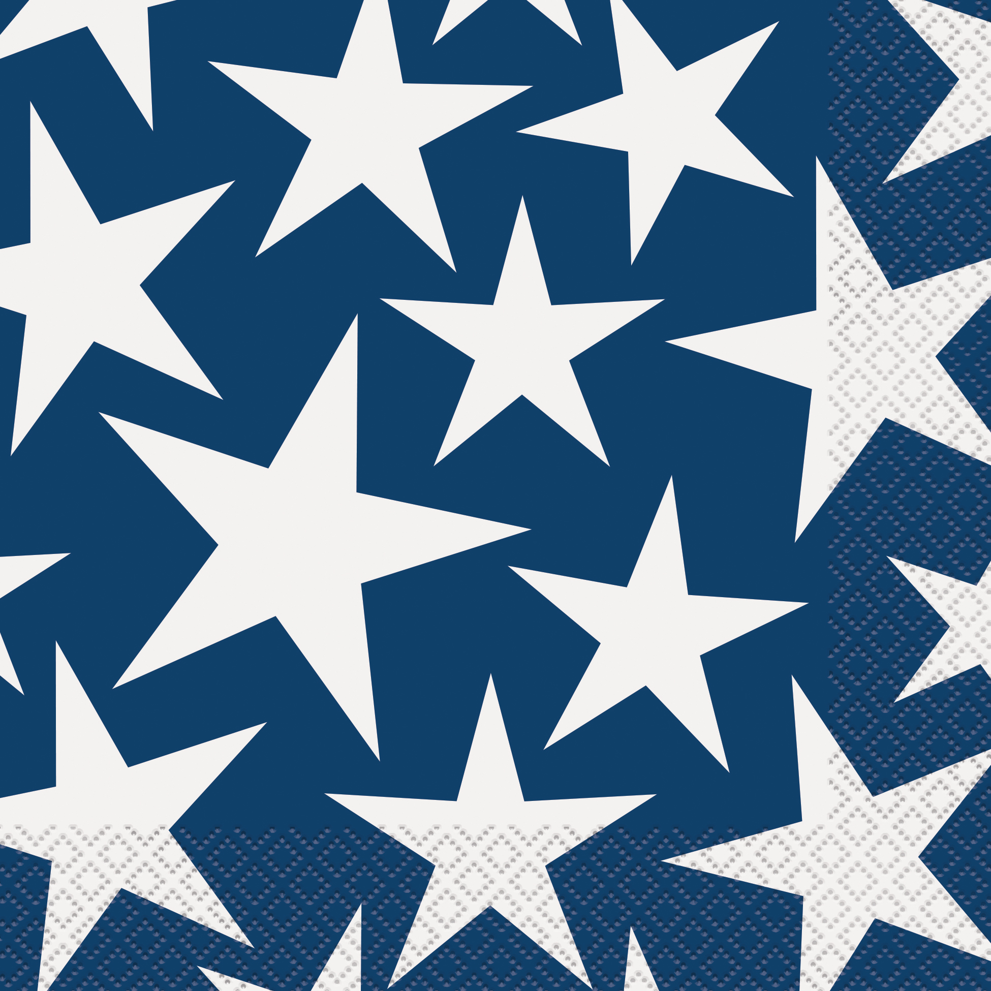 Stars & Stripes 4th of July Paper Luncheon Napkins, 6.5 in, 16ct