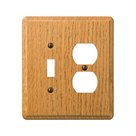 901TDL Contemporary 1 Toggle 1 Duplex Wall Plate  Light Oak - image 1 of 1
