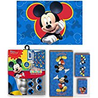 17pc Disney Mickey Mouse Clubhouse Shower Curtain Bath Towel Foam Mat Hooks Set