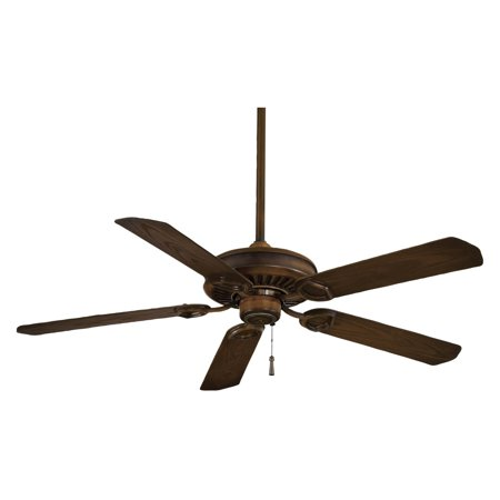 Sundowner Outdoor Fan - Minka Aire F589-MW Sundowner 54 in. Indoor / Outdoor Ceiling Fan - Mossoro Walnut - ENERGY STAR