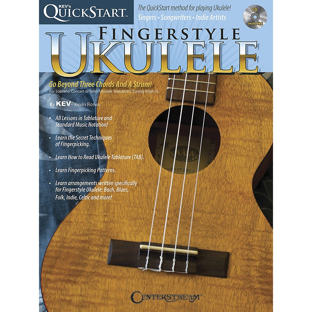 Hal Leonard Kev's QuickStart for Fingerstyle Ukulele (Book and CD)