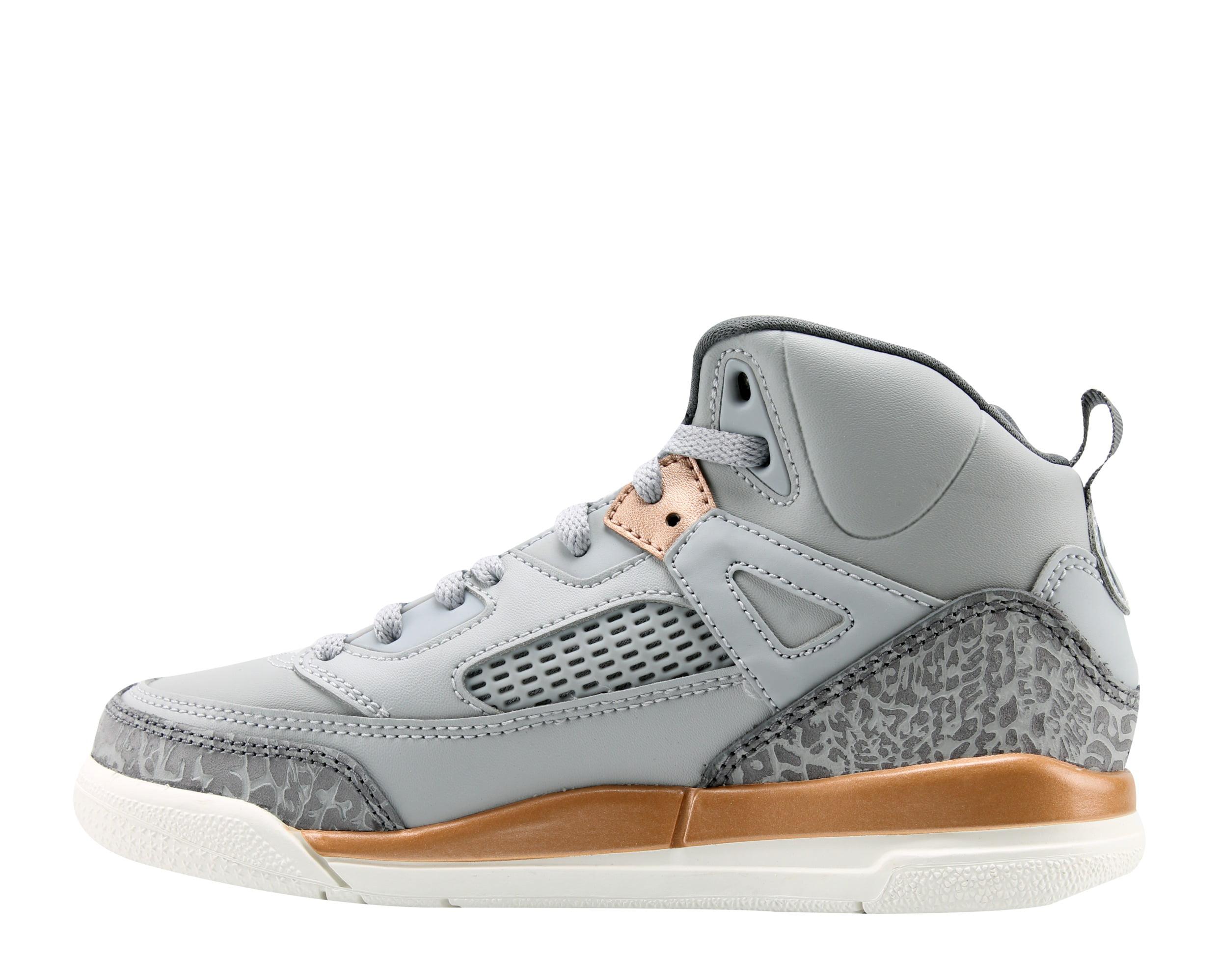 Nike Air Jordan Spizike GP Grey/Bronze Little Girls Basketball Shoes 535708-018
