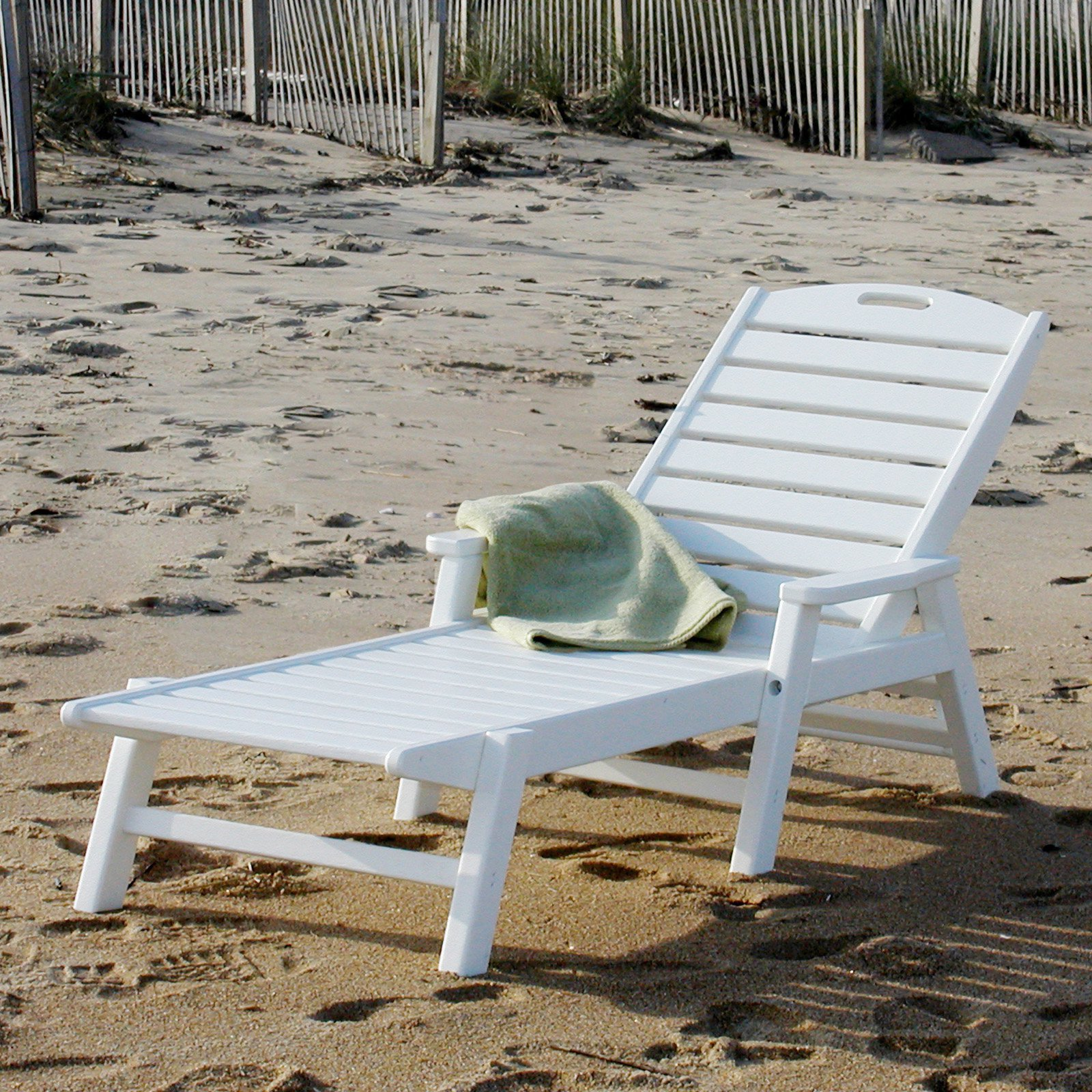 Polywood ocean shores recycled plastic outdoor chaise lounge walmart com