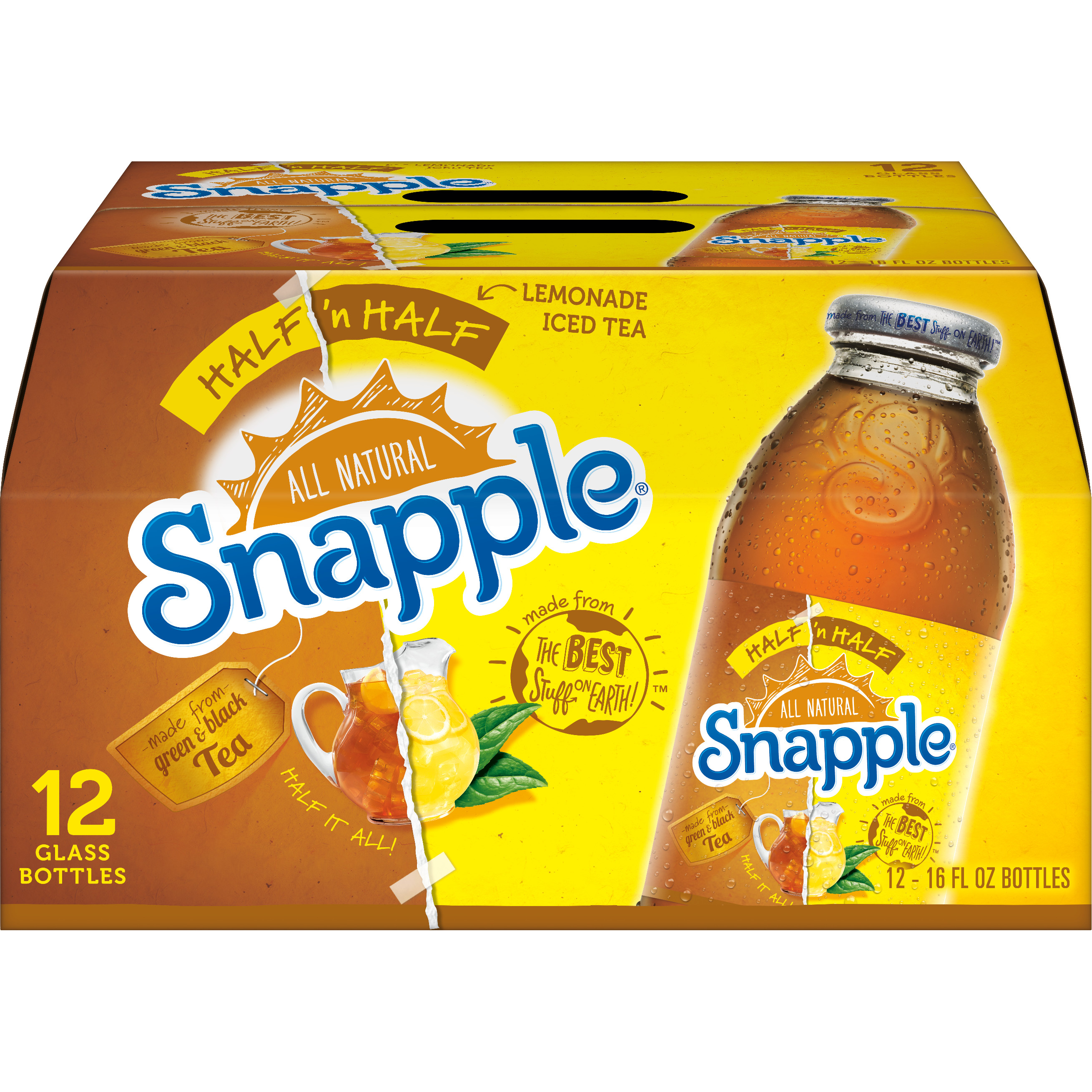 Snapple Half 'n Half, 16 fl oz, 12 pack