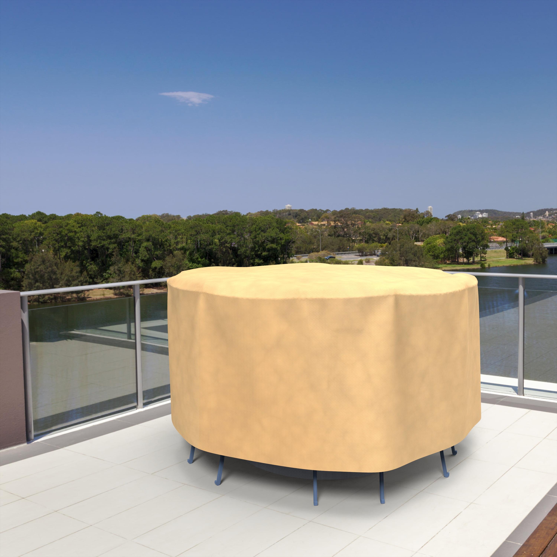 Budge Medium Nutmeg Patio Bar Table/Chairs Cover, All-Seasons