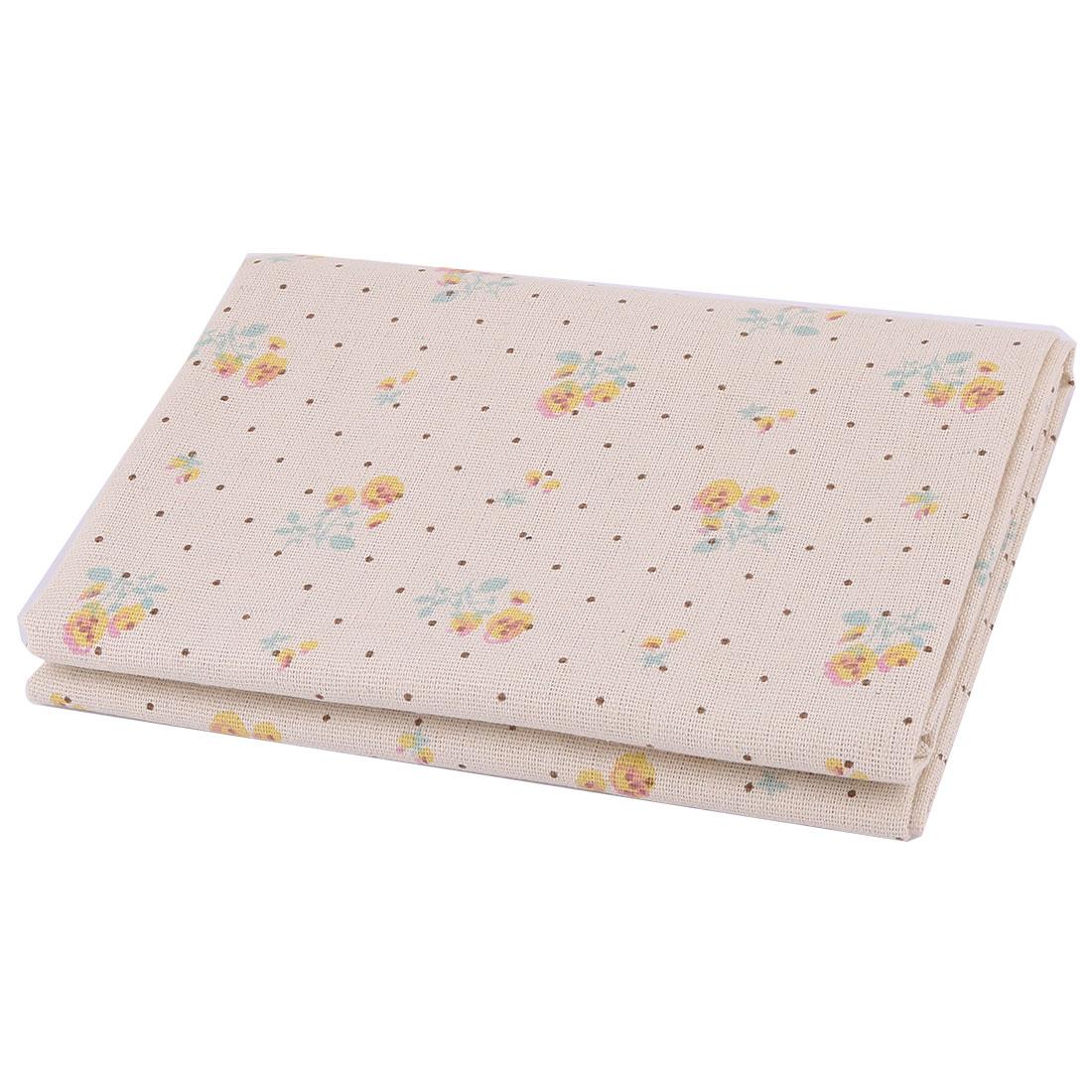 Unique BargainsHome Linen Flower Pattern Table Cover Curtain Handbag DIY Fabric 1.55M Length