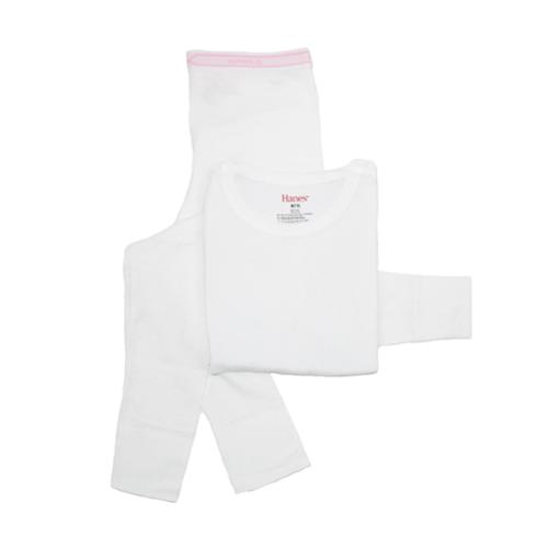 Hanes Girls' Thermal Underwear Set by Hanes