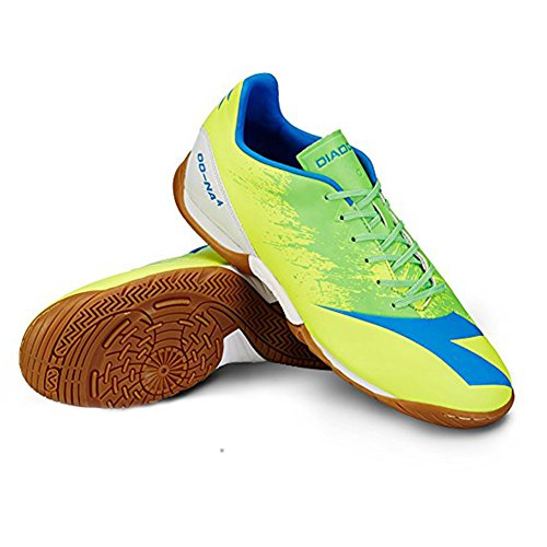 Diadora Mens DD-NA 4 R ID Indoor Sneakers, Yellow Suprellsoft, Rubber, 9.5 M