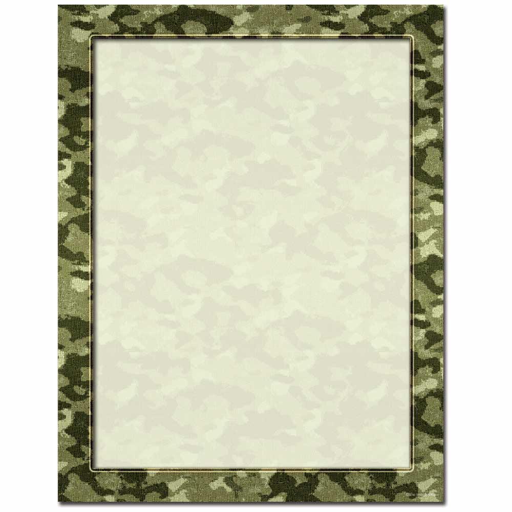 Camouflage Letterhead Laser & Inkjet Printer Paper
