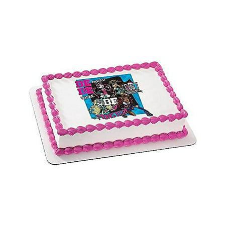 Monster High Quarter Sheet Edible Cake Topper Each Party