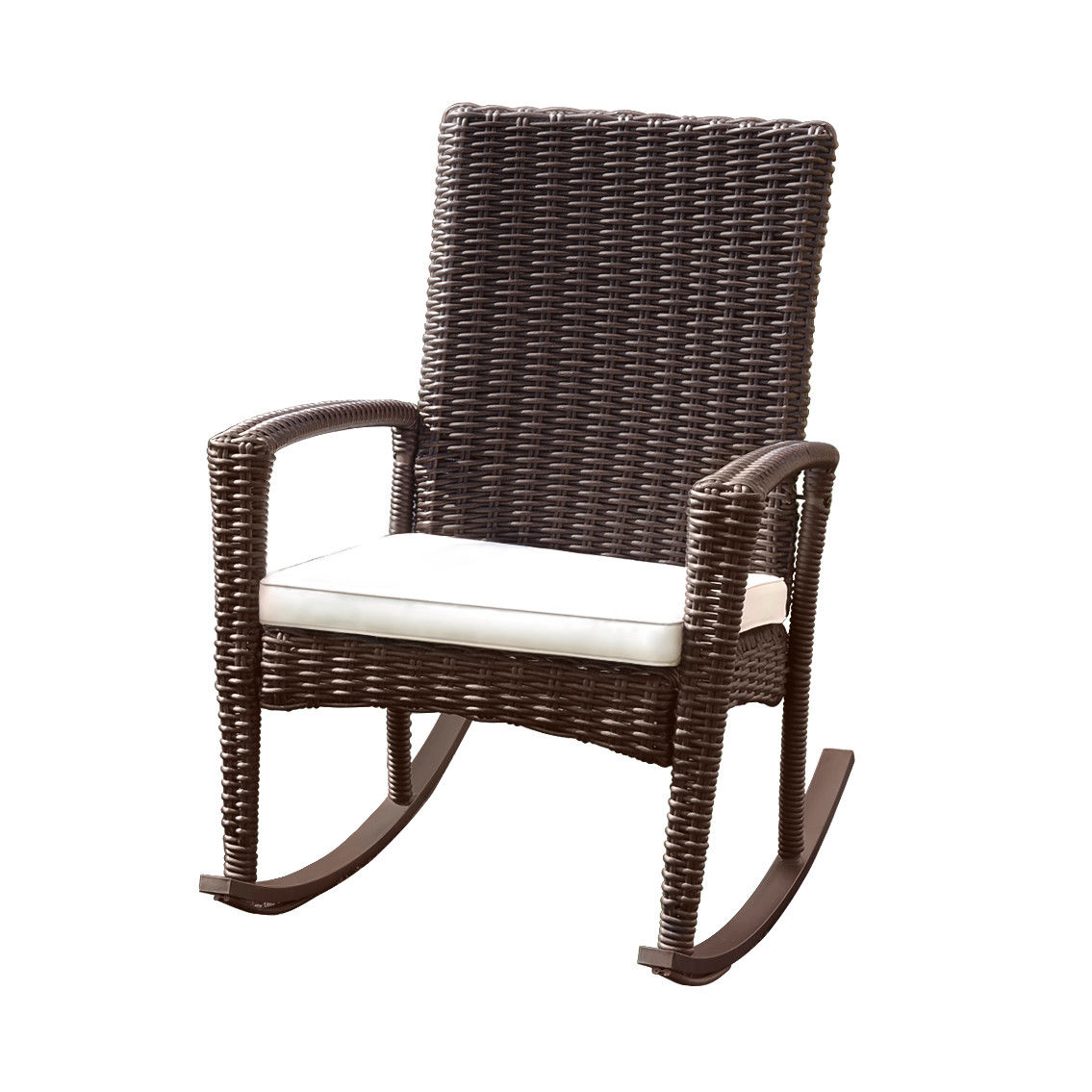 Gymax 3PC Patio Rattan Wicker Furniture Set Cushioned Outdoor Garden - image 5 of 8