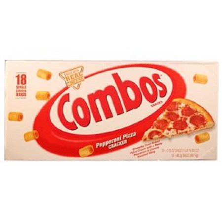 Combos Tube Pepperoni Pizza 18Ct - Pack Of 18 (Pepperoni Pizza Food)