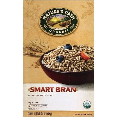 Nature's Path Organic Smart Bran Cereal, with Psyllium & Oatbran, 10.6 Oz