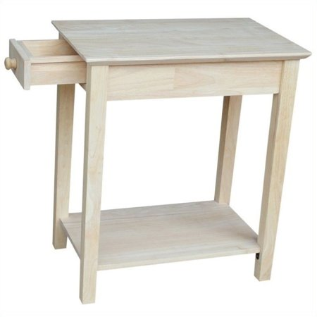 Pemberly Row Unfinished Narrow 1-Drawer End Table