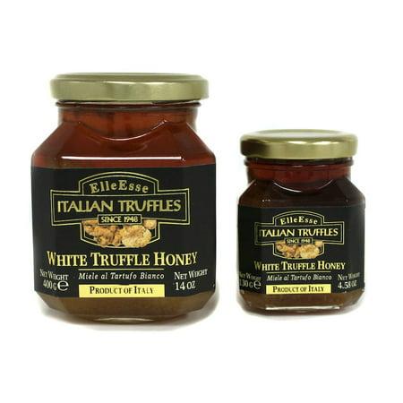 White Spring and Winter Truffle Honey - 4.58 oz (130g) Italian Truffle Mushroom and Wildflower - Italian Truffle Honey