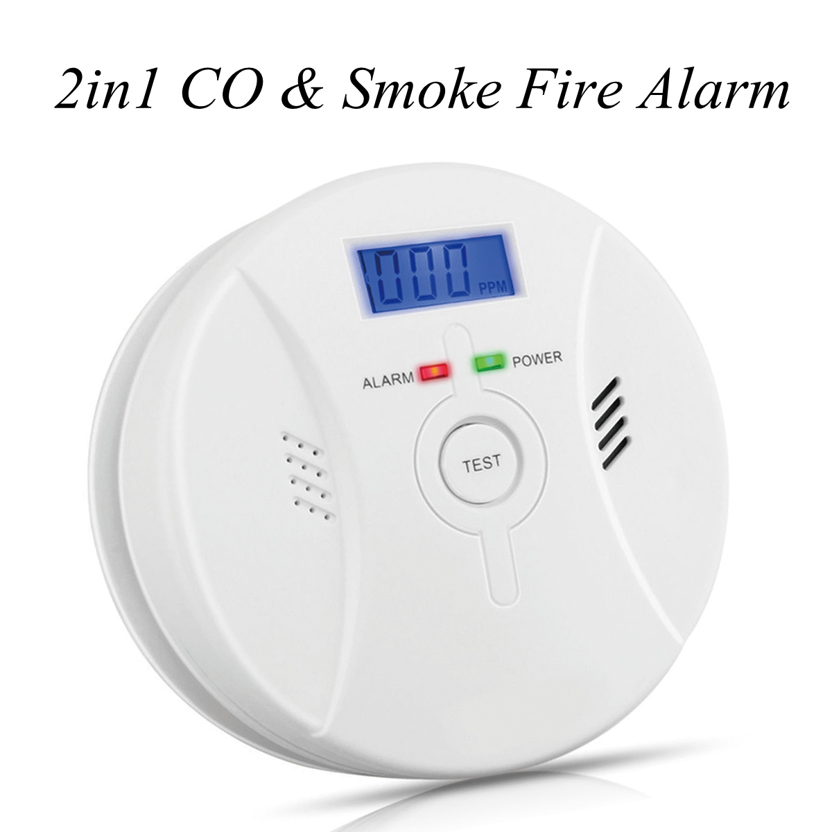 CO Smoke Detector Combor,Carbon Monoxide Detector and Smoke Alarm Battery Operated and Voice Warning