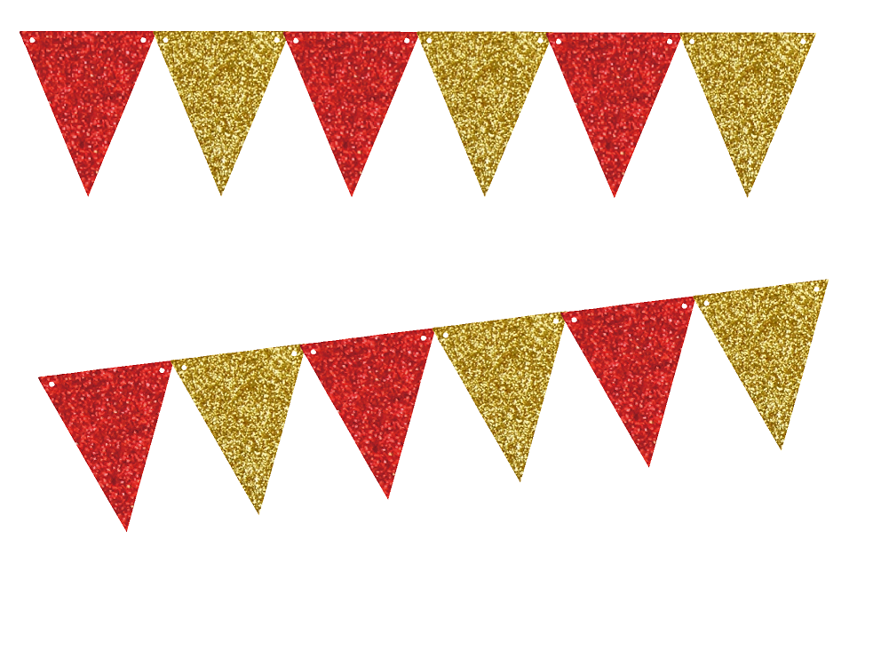 GOLD /& WHITE FABRIC BUNTING  WEDDINGS PARTIES  FLAGS 20 foot long