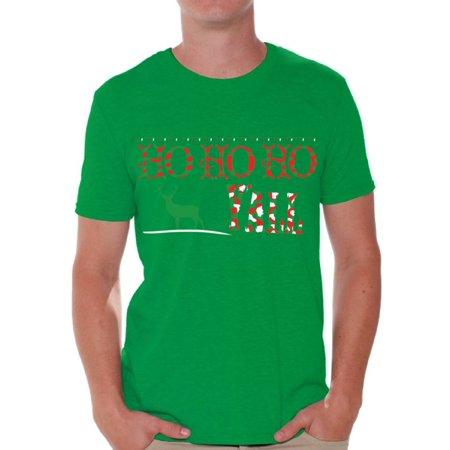 Awkward Styles Ho Ho Ho Yall Christmas Tshirts for Men Xmas Reindeer Holiday Shirt Ugly Christmas T-Shirt Funny Tacky Party Holiday Top Ho Ho Ho Men's Christmas Shirt Xmas Holidays Tee