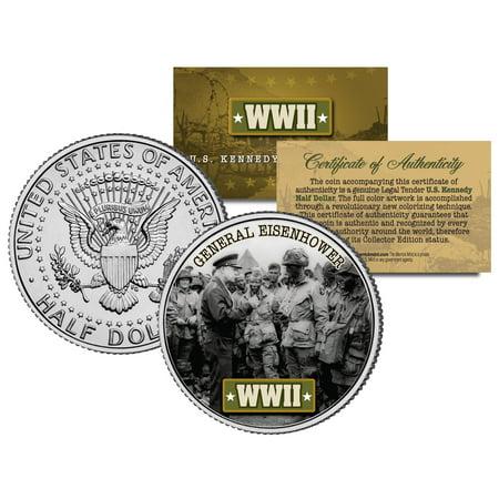 1972 Eisenhower Dollar Coin - World War II GENERAL EISENHOWER JFK  Kennedy Half Dollar US Coin