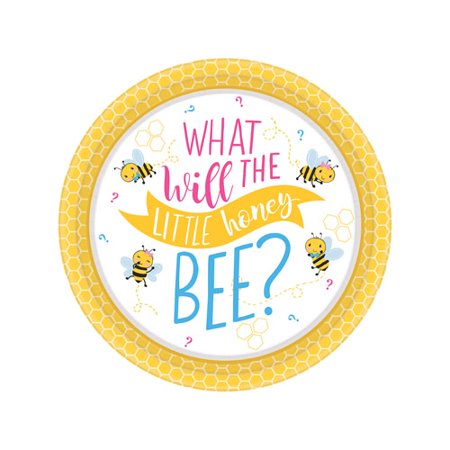 Baby Shower 'What Will it Bee?' Small Paper Plates (8ct) - Make It Plates