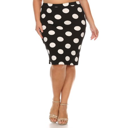 14b70bf7b1c MOA COLLECTION Women s Plus Size Floral Pattern Print Casual Stretch Midi  Pencil Skirt Made in USA