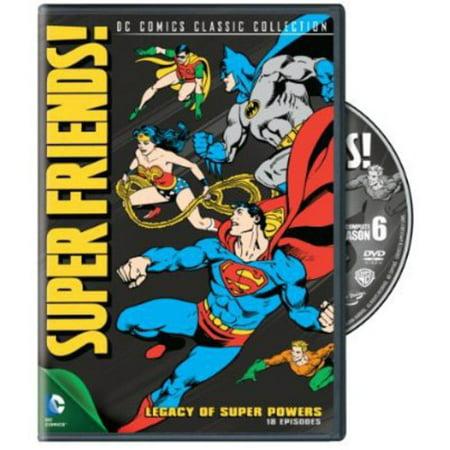 SUPER FRIENDS-LEGACY OF SUPER POWERS-SEASON 6 (DVD/FF) - Super Friends Cartoon