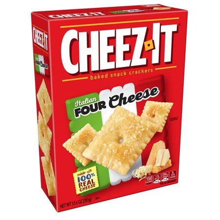 Italian Cheese Bread (Cheez-It Baked Italian Four Cheese Snack Crackers, 12.4 Oz. )