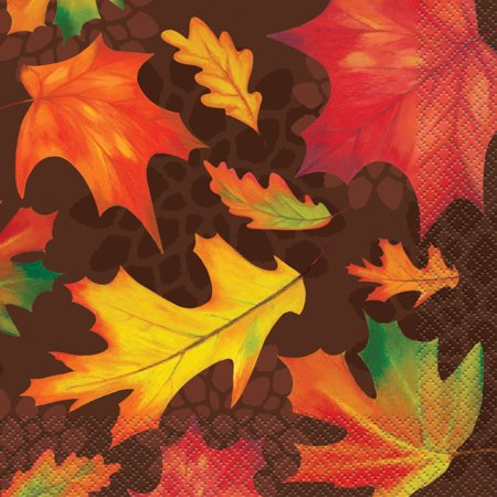 Fall Leaves Paper Luncheon Napkins, 6.5 in, 16ct