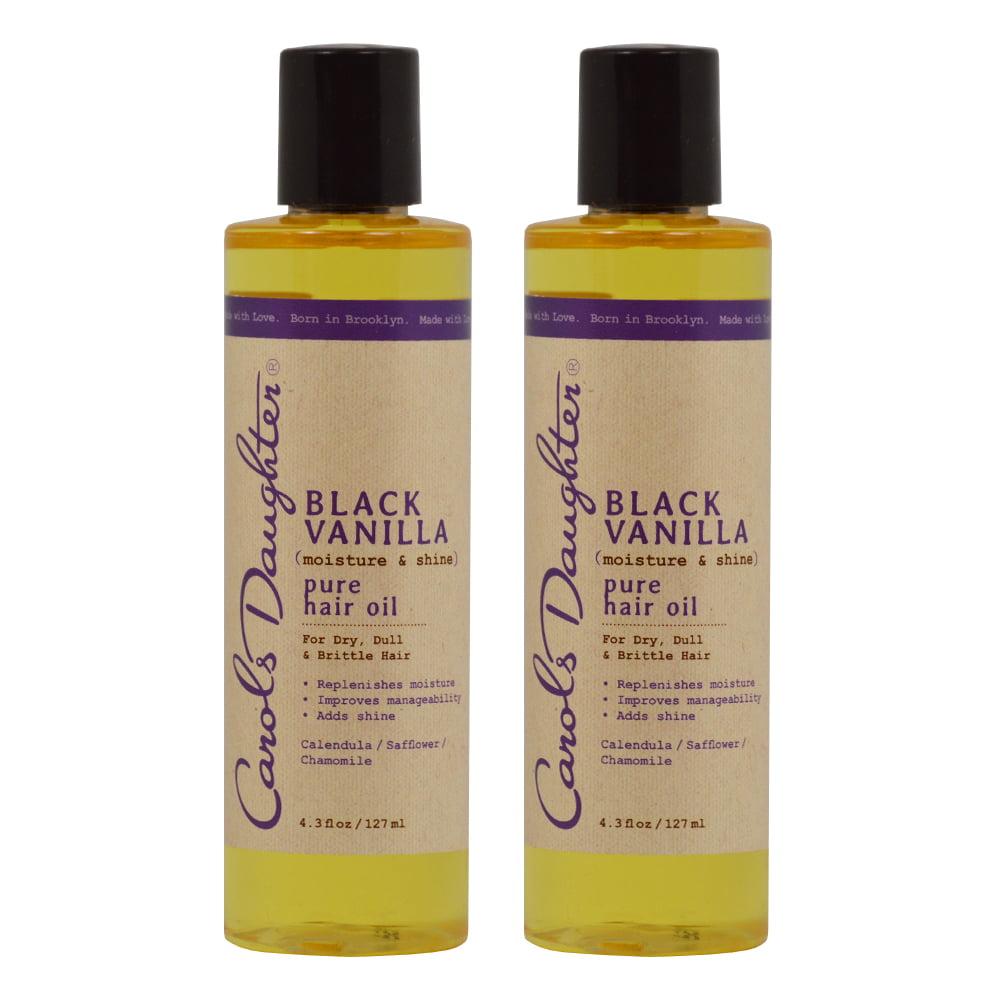 "Carols Daughter  Black Vanilla Moisture & Shine Pure Hair Oil 4.3 oz ""Pack of 2"""