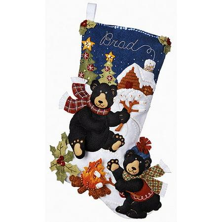 Bucilla Christmas Stocking Kits.Plaid Bucilla Seasonal Felt Stocking Kits Reindeer Santa