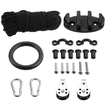 21PCS Kayak Canoe Anchor Trolley Kit Zig Zag Cleat Rigging Ring Pulleys Padd Eyes Wellnuts Screws Kayak Accessories (Boat Pulley)