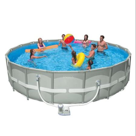 Intex 18 39 X 48 Ultra Frame Above Ground Swimming Pool With Filter Pump
