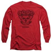 CBGB Moth Skull Mens Long Sleeve Shirt