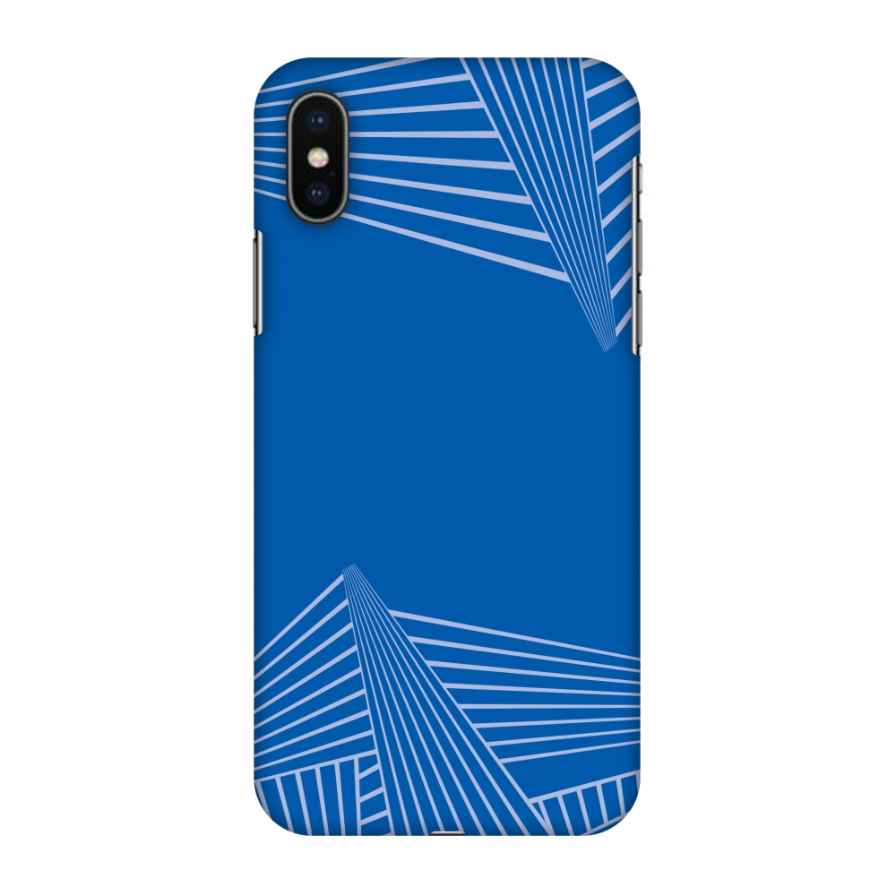 iPhone X Case, Premium Handcrafted Designer Hard Shell Snap On Case Printed Back Cover with Screen Cleaning Kit for iPhone X, Slim, Protective - Carbon Fibre Redux Coral Blue 3