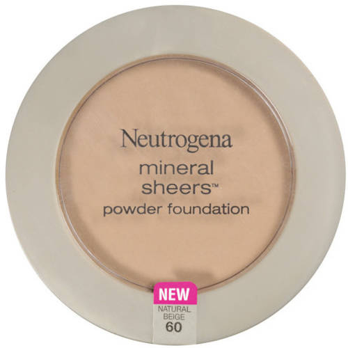 Neutrogena Mineral Sheers Compact Powder Foundation SPF 20, Natural Beige 60, 0.34 oz